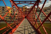 Metal bridge in Girona, Spain — Stock Photo