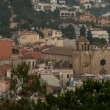 View at cathedral at Tossa de Mar, Spain — Stock Photo