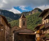 Bell tower in Els Hostalets d'en Bas — Foto Stock