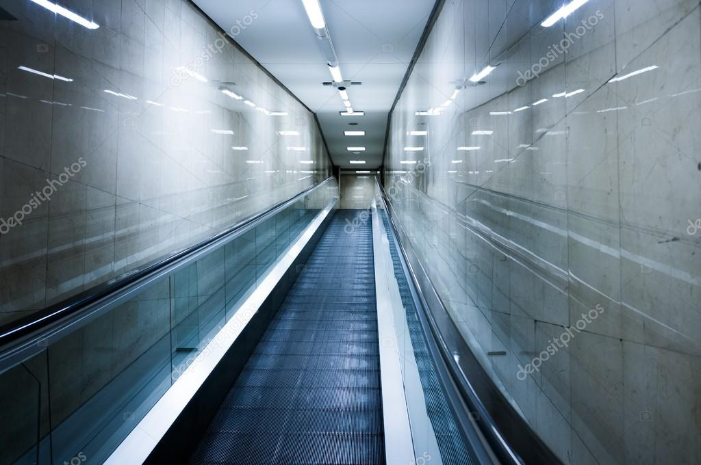 Escalator inside modern building — Stock Photo #14220815
