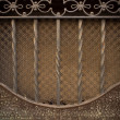Vintage metal decoration close-up — Stock Photo