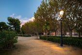 Beautiful park in Barcelona, Spain — Stock Photo