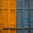 Close-up of wooden shutters - Stock Photo