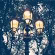 Illuminated streetlight outdoors — Stock Photo