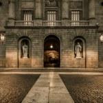 Building on Plaza de la Constitucion, Barcelona — Stock Photo #15657973