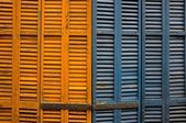 Close-up of wooden shutters — Stock Photo