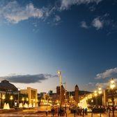 View of Plaza De Espana at night — Stock Photo