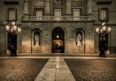 Building on Plaza de la Constitucion, Barcelona — Foto de Stock