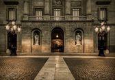 Building on Plaza de la Constitucion, Barcelona — Stock Photo