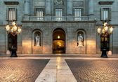 Building on Plaza de la Constitucion, Barcelona — Stock Photo