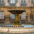 Fountain on Albertas square, Aix-en-Provence, France - 图库照片