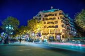 La Pedrera or Casa Mila at dusk — Stock Photo