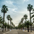 Promenade in Barcelona — Stock Photo