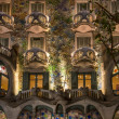 BARCELONA - NOVEMBER 24: Antonio Gaudi's famous Casa Battlo, illuminated at night, on November 24, 2012 in Barcelona, Spain - ストック写真