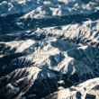 Alps view from a plane - Stock Photo