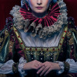 Portrait of beautiful haughty queen - Stockfoto