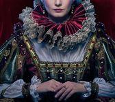 美丽的傲慢女王的画像 — 图库照片