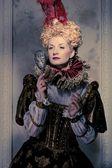 Porträtt av vackra högdragen drottning — Stockfoto