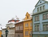 Old houses in town of Prague — Stock Photo