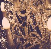 Luxury crystal lamp — Stock Photo