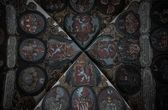 Ceiling in old royal palace, Prague — Stock Photo