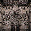Vintage cathedral facade details  — Stock Photo