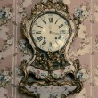 Vintage clock on wall — 图库照片