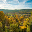 Beautiful autumn landscape view on sunny day — Stock Photo