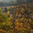 Stock Photo: Small town view in autumn landscape