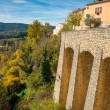 Stock Photo: Town of Moustiers-Sainte-Marie, France