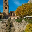 Stock Photo: Old church in Moustiers-Sainte-Marie, France