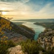 Beautiful view of Gorges du Verdon, France - Stock Photo