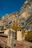 Belltower in Moustiers-Sainte-Marie, France — Stock Photo