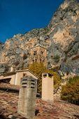 Campanário em moustiers-sainte-marie, frança — Foto Stock