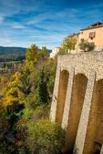 Town of Moustiers-Sainte-Marie, France — Stock Photo