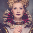 Portrait of beautiful haughty queen - Stock fotografie