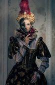 Beautiful haughty queen — Stock Photo