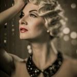 Beautiful retro woman — Stock Photo #21040591