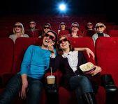 In cinema — Stock Photo