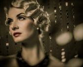 Beautiful retro woman — Stock fotografie