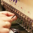 Changing needle in sewing machine — Stock Video