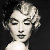Mulher retro — Foto Stock