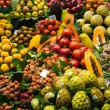 Variety of tasty fresh fruits - Stock Photo