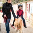 Little boy riding on pony — Stock Photo #22656113