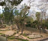 Animal enclosure in a zoo — Stock Photo