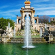 Panorama of fountain in a Parc de la Ciutadella, Barcelona — Stock Photo