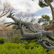 Statue of a running antelopes - Stock Photo