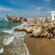 Beautiful coast of town of Sitges, Spain — Stock Photo