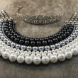 Luxury pearls necklace - Stock Photo