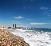 Beautiful beach in Barcelona — Stock Photo